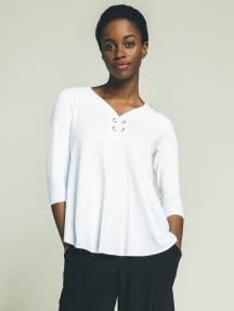 Halo 3/4 Sleeve Henley Top by Sympli