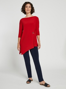 Halo Angle 3/4 Sleeve Tunic by Sympli