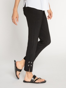 Halo Narrow Ankle Detail Pant by Sympli