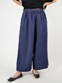 Heavy Linen Flood Pant