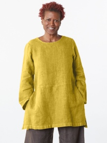 Heavy Linen Long Sleeve Bre Tunic