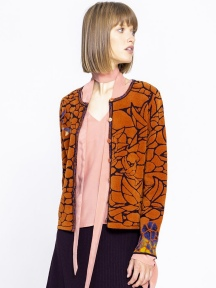 Jacquard Cardigan by Ivko