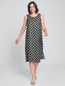 Jacquard Dot Vancouver Dress by Flax