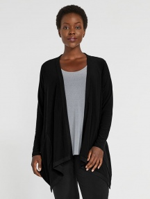 Jersey Motion Trim Cardigan by Sympli