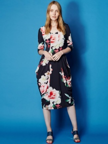 Knit Floral Long Dress by Alembika