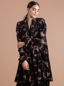 Leaf Print Velvet Jacket by Alembika