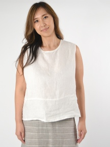 Light Linen Basic Tank by Bryn Walker