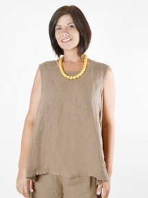 Light Linen Huxley Tank by BRYN WALKER