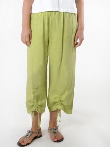 Light Linen Ruched Pant by BRYN WALKER