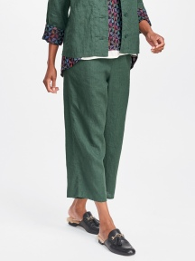 Linen Crop Flood Pant by Flax