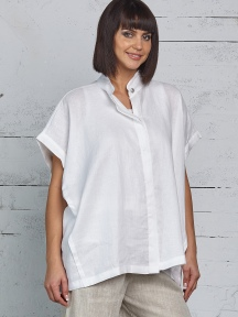 Linen Squared Shirt by Planet