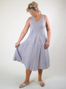 Linen Tank Dress w Pockets by Luna Luz