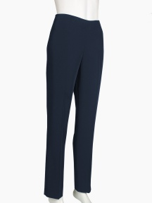 Lisa Sateen Side Zip Ankle Pant by Peace Of Cloth