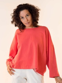 Long Sleeve Crop Crew Shirt by Pacificotton