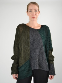 Mesh Knit Sweater by Alembika