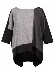 Metallic Color Block Top by Alembika