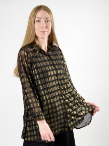 Metallic Gold Evening Blouse by Alembika