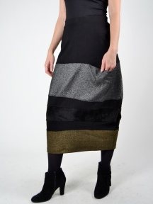 Metallic Panel Skirt by Alembika