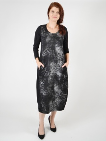 Metallic Splash Midi Dress by Alembika