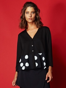 Mixed Dots Cardi Jacket by Alembika