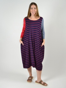 Mixed Stripe Dress by Alembika