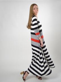 Mixed Stripe Maxi Dress by Alembika