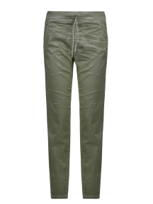 Moss Green Suedette Drawstring Pant by Alembika