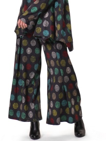 Multi-Dot Wide Leg Pant