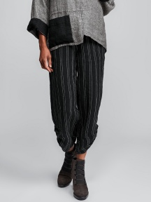 Multi-Facet Pinstripe Pant by Flax