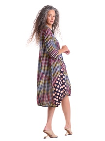 Multi Gingham Wonderful Dress by Alembika