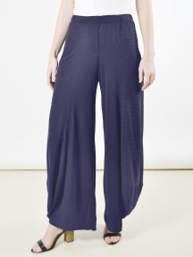 Navy Rib Stripe Pant by Alembika