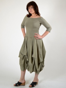 Off Shoulder 3/4 Sleeve Tie Dress by Luna Luz