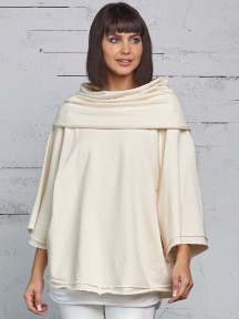 Off-Shoulder Cowl Pullover Top by Planet