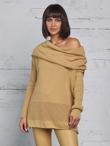 Off Shoulder Illusion Sweater by Planet