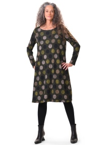 Olive Dot Dress by Alembika