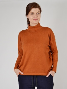 Olivia Turtleneck Boxy Sweater by Plush Cashmere