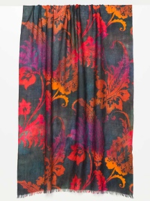 Ombre Paisley Print Scarf by Kinross Cashmere