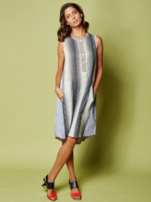 Ombre Stripe Dress by Alembika