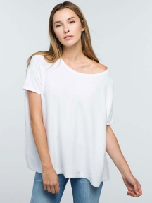 Oversized Cashmere Blend Tee by Kinross Cashmere