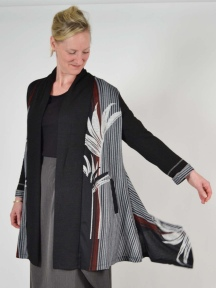 Palm Leaf Jersey Duster by Aris A.