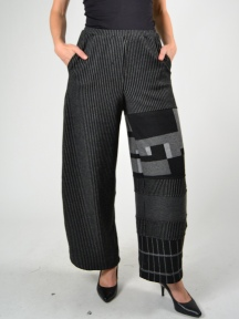 Patch Pinstripe Pant
