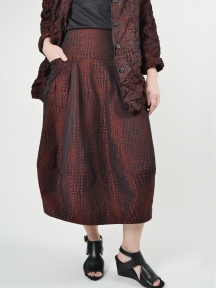 Patterned Midtown Skirt by Sun Kim