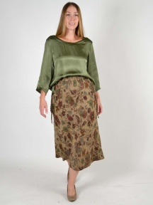 Persian Floral Sweater Skirt by Butapana