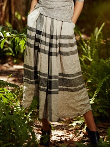 Plaid Linen Skirt by Alembika