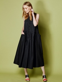 Pleated Midi Dress by Alembika