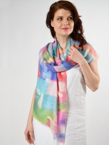 Pop Art Scarf by Kinross Cashmere