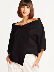 Portrait Collar Top by Planet
