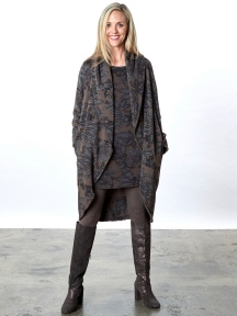 Print Wrap Coat by Bryn Walker