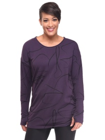 Purple Print Gwyn Top by Snapdragon & Twig