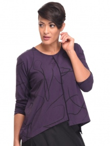 Purple Ribbon Londyn Top by Snapdragon & Twig